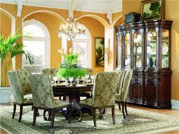 Classic Round Dining Table For 8 Ornamental Room