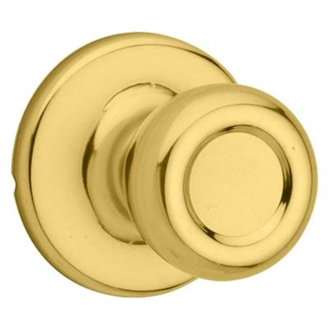 Kwikset Tylo Hall & Closet Knob - Polished Brass
