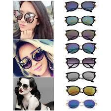 wholesale fashion retro metal frame cat eye sunglasses for
