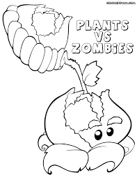 Plants Vs Zombies Sunflower Coloring Book Cabbage