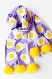 diy egg patterned scarf studio diy