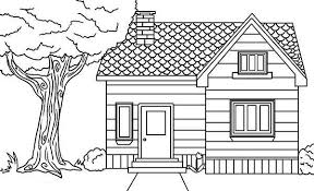 House In The Village Houses Coloring Page