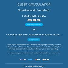 Sleep Calculator What s The Best Time To Go To Sleep