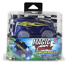Magic Tracks Light Up Blue Fire Racer Car - Toys