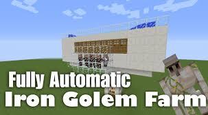Minecraft Growing Pumpkins by Fully Automatic Iron Golem Farm Tutorial Minecraft 1 8