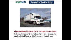 Greatwide Trucking Jobs - YouTube