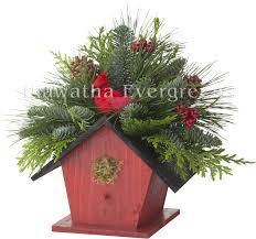 Pine Cone Christmas Tree Centerpiece by Hiawatha Evergreens Fresh Evergreen Products