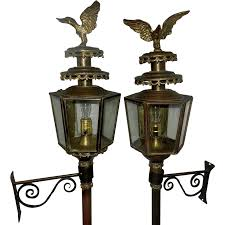Antique Brass Coach Carriage Lantern with Eagle SOLD on Ruby Lane