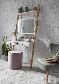 leno leiterregal schminktisch 79x183cm eschenholz weiß