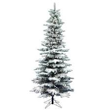 Snow Flocked Slim Christmas Tree by Flocked Slim Tree Wayfair