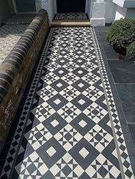 Victorian Black And White Mosaic Small Garden Privacy London Dulwich Wimbledon Putney Wandsworth