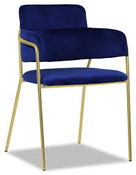 Emmiel Chair With Gold Legs (Royal Blue)