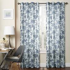 Jacobean Floral Design Curtains by Charlton Home Cantrall Nature Floral Sheer Single Curtain Panel