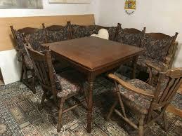 eckbank mit tisch und 2 stühle