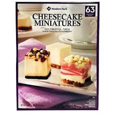 Sams Club Small Deck Box by Member U0027s Mark Mini Cheesecake Variety Pack 63 Ct Sam U0027s Club