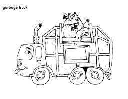 Cartoon Garbage Truck Coloring Pages