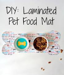 Running With A Glue Gun DIY Laminated Pet Food Mat