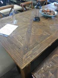 Elm Wood Dining Table Including Two Benches