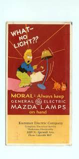 vintage general electric mazda ls light bulbs ge advertising