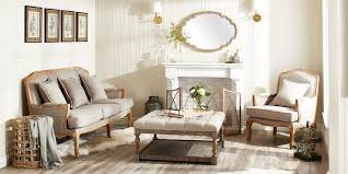 Linen Furniture In Living Room Setting French Country Decor Ideas