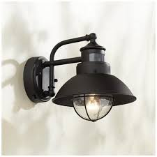 fallbrook 9 h black dusk to motion sensor outdoor light