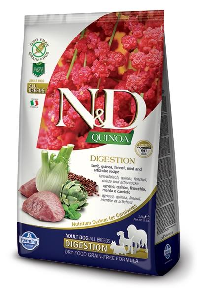 Farmina N&D Quinoa Digestion Lamb Dog Food 15.4 lbs.