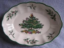 Spode Christmas Tree Platter by Safarri For Sale Spode Christmas Tree Dishes