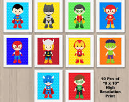 inspiration graphic superhero wall decor home decor ideas