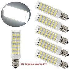 led e12 led light bulb 120v 6000k daylight white 6w led e12