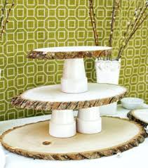 Rustic DIY Woodsy Cupcake Stand