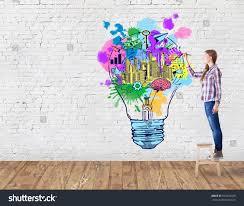 Photo Of Brick Ideas by Brick Room Drawing Creative 写真素材 552656929