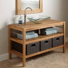 48 Inch Double Sink Vanity by Teak Bathroom Vanity Vessel Sink Bathroom Bathroom Vanities