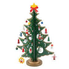 Amazoncom 14inch Tabletop Mini Wooden Christmas Tree With 28 Mini
