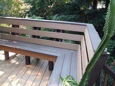 find out how to build a built in corner bench on your deck from
