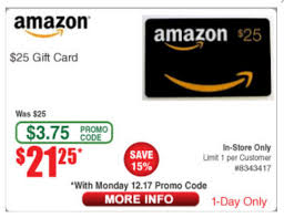Expired] Fry's Electronics: $25 Amazon Gift Card For $21.25 [Today ... Motorola Rve Me 3999 With Promo Code Frys Electronics Frysfoodcom Food Pharmacy Reviews Coupons Rx Drug Stores Coupon Matchups Mylitter One Deal At A Time 20 Off Instore Purchase Tuesday 219 Instoreusa Off Minimum Purchase Of 299 And Above Food Coupons Babies R Us Ami Email Exclusive Moto X4 Unlocked 299 Tax In Black Friday Ads Sales Doorbusters Deals 2018 San Diego Frys Best Sale Xmen First Class Aassins Creed 4k Blu Ray 999each Wpromo Code 30 The Edinburgh Jewellery Boutique Promo Discount While Supplies Last 65 4k Tv For 429 At Clark
