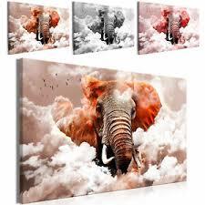 details zu leinwand bilder 3d elefant himmel wolken wandbilder wohnzimmer