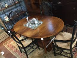 Oval Dining Table WPads And 4 Spindle BAck