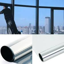 Reflective Glass Film Silver Window One Way Mirror Insulation Sticker Solar Sunscreen Privacy Tint Wall In Decorative Films From