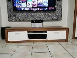 wohnzimmerschrank wohnwand 5teilig braun weiß ohne tv und
