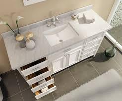 Double Sink Vanity Top 60 by Ace Kensington 61 Inch Single Sink Bathroom Vanity Set In White Finish