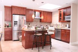 Dark Wood Cabinet Kitchens Colors Kitchen Cabinet Decor Magnificent Kitchen Colors With Cherry