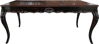 casa padrino barock esstisch schwarz braun antik stil look mit glasplatte esszimmer tisch alle grössen