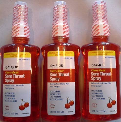 Major Sore Throat Spray - Cherry, 6oz