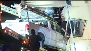 100 Truck Wrecks Videos PickUp Crashes Into Apartment Building In South Los Angeles