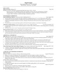 Mechanical Engineer Resume Examples Resumes Simple Engineering Pdf