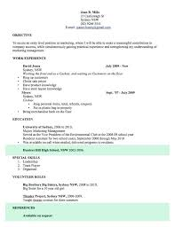 Free Sample Professional Resume Template Templates Word Open Colleges With Regard To For Cv Example