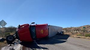 100 Truck Rollover I10 Near Benson Partially Reopen After Closure Caused By Semitruck