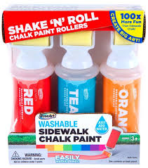Amazon.com: RoseArt Sidewalk Chalk Paint Shake N Roll Painters 3ct ...