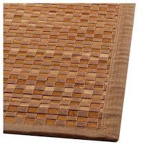 teppich bambus bambusteppich badteppich matte bambusmatte 120 x 170 braun