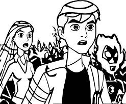 Ben 10 Alien Force Episode Everybody Talks About The Weather Coloring Page